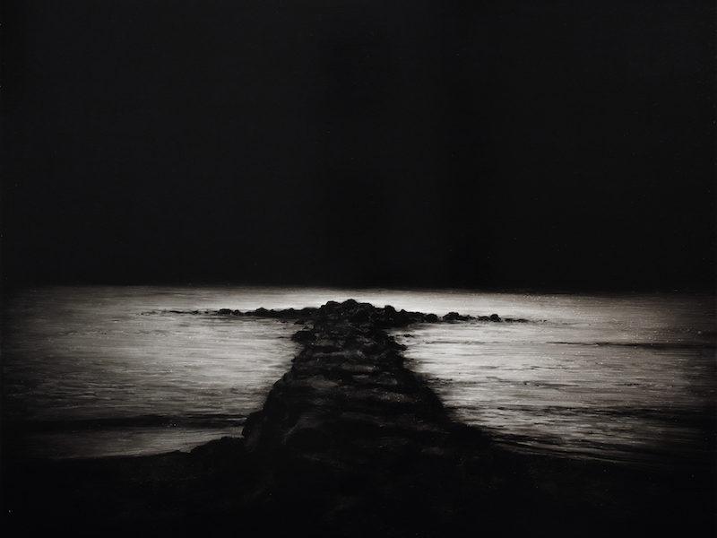 Ettore Frani Il sentiero 2016 cm 55x70 olio su tavola laccata