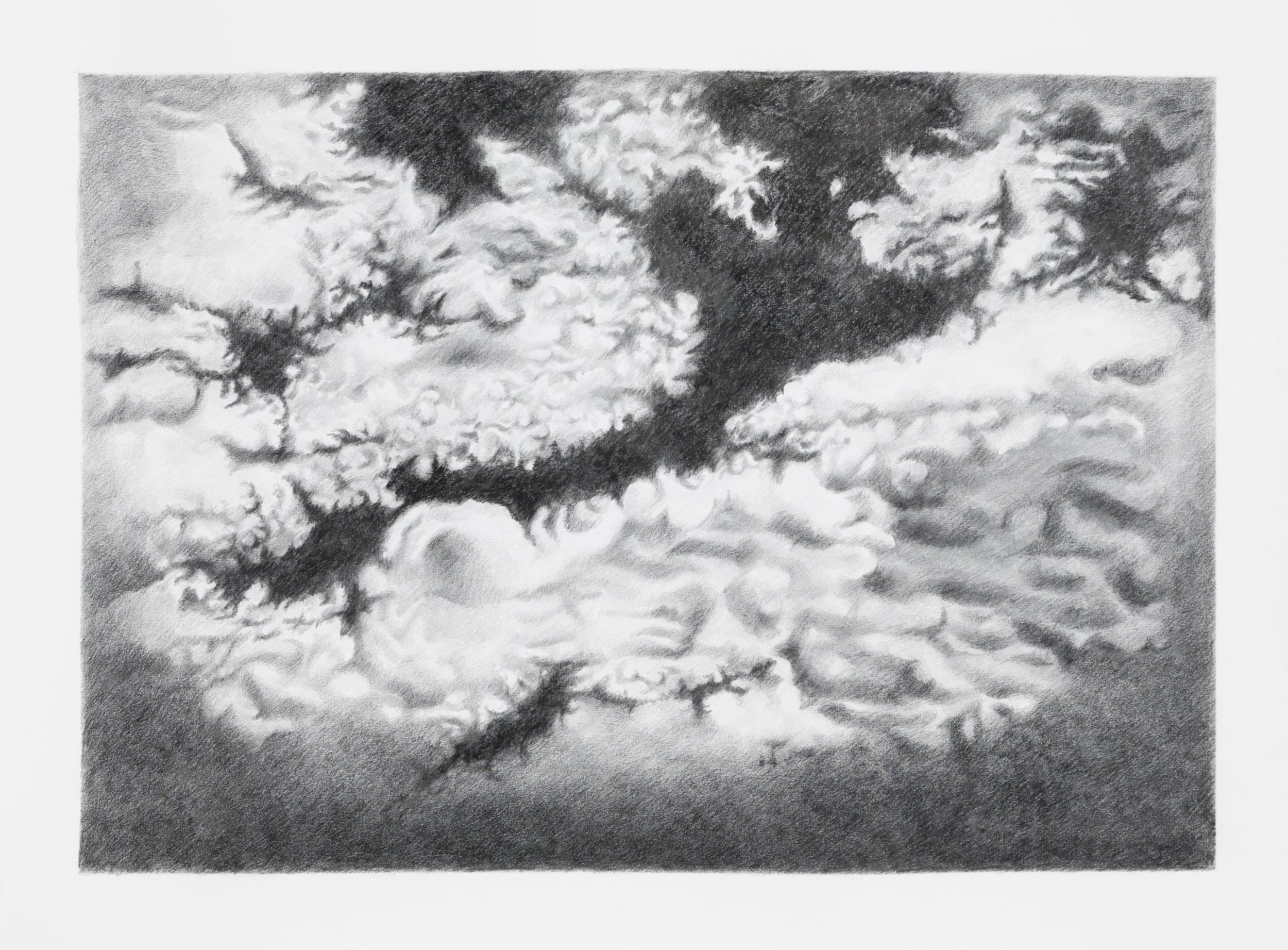 serie Estudio de nubes IV, 2014 grafite su carta Fabriano 100 cm x 70 cm