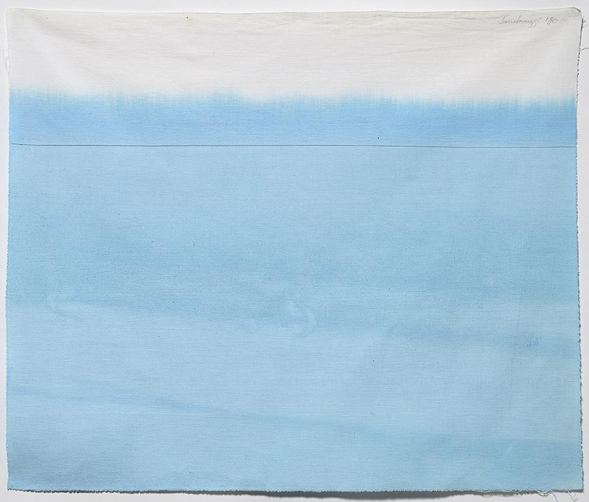 Immersione, 1980, acrilico su tela non preparata, cm 53,5x63