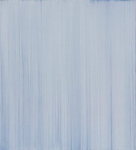 Quattro velature di bianco su fondo nero, 2006, olio su tela, cm 55x50