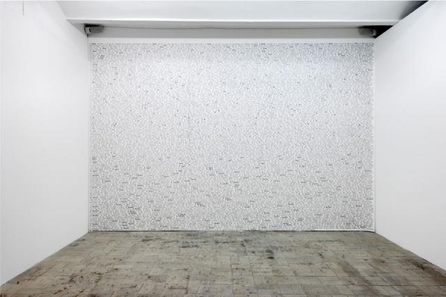 Daniela Comani, Sono Stata io (Diario 1900-1999), 2002/2006, stampa su vinile, cm 300 x 600