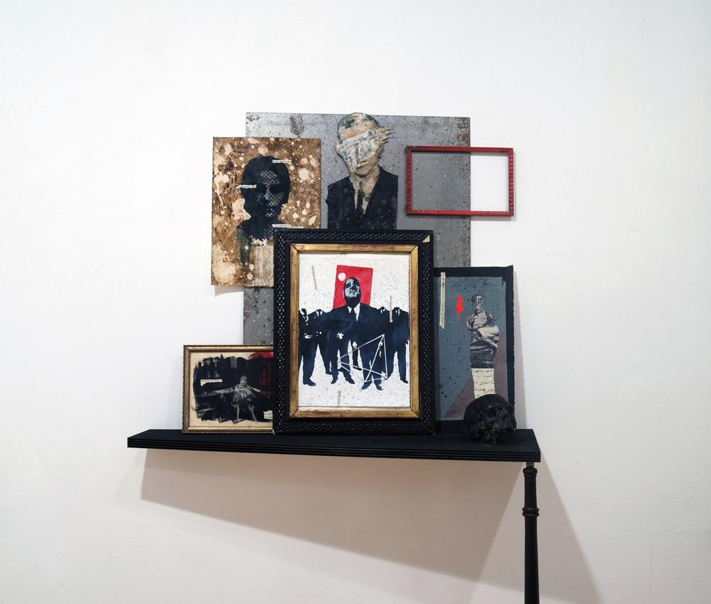 Accumulo, 2016, acquerelli e acrilici su carta-foto, dimensioni variabili