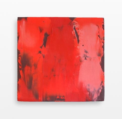 Bete comme un peintre, 2014, olio su tavola, cm 30 x 30