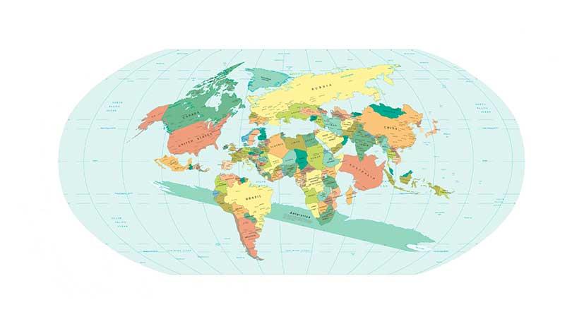 Requiem Terrae, 2011, terra, vetro, mappa del mondo, dimensioni variabili