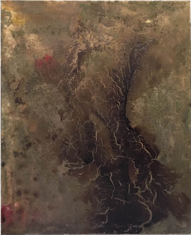 Untitled, 2016, tecnica mista su tela, cm 80x60