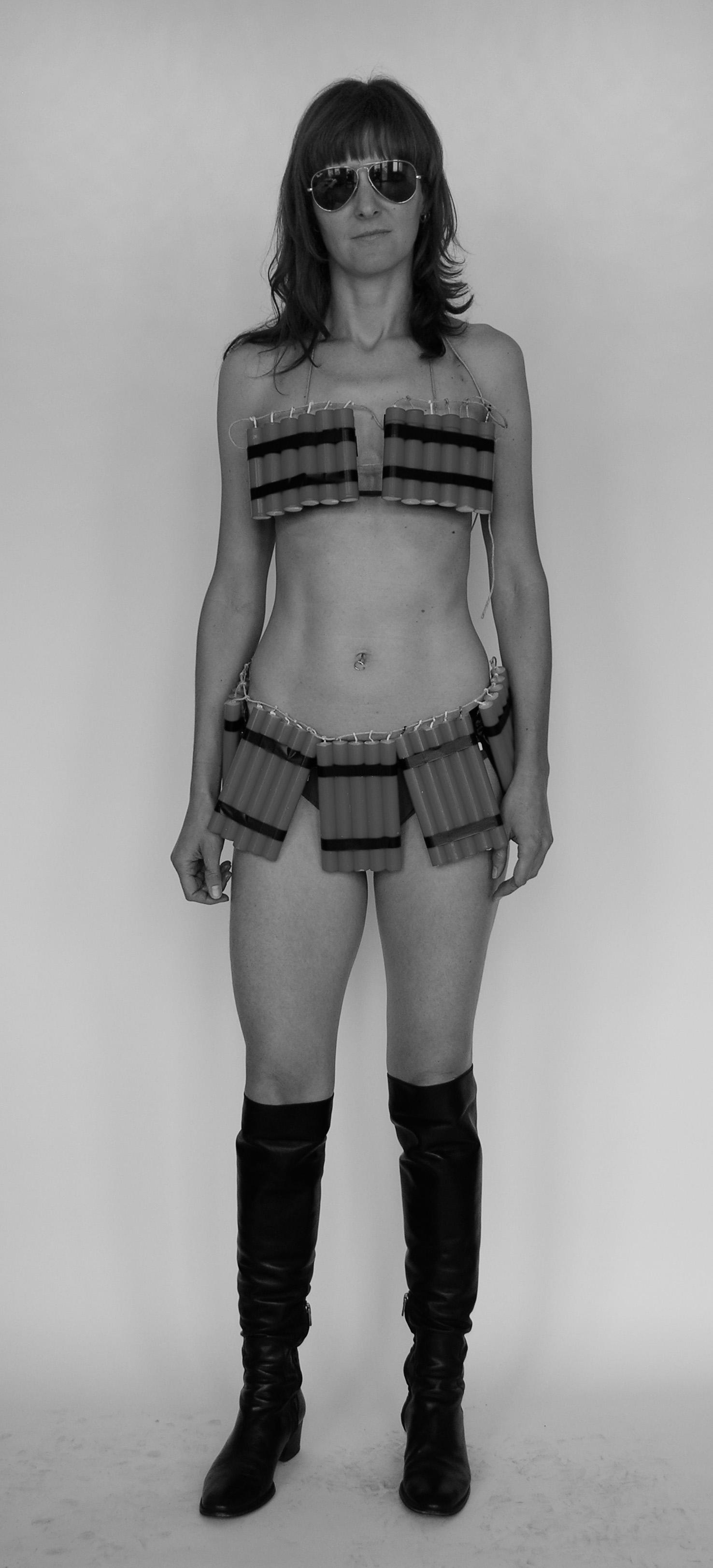 Daniela Comani, Bikini, 2011, piezo print su photo rag, cm 200 x 100