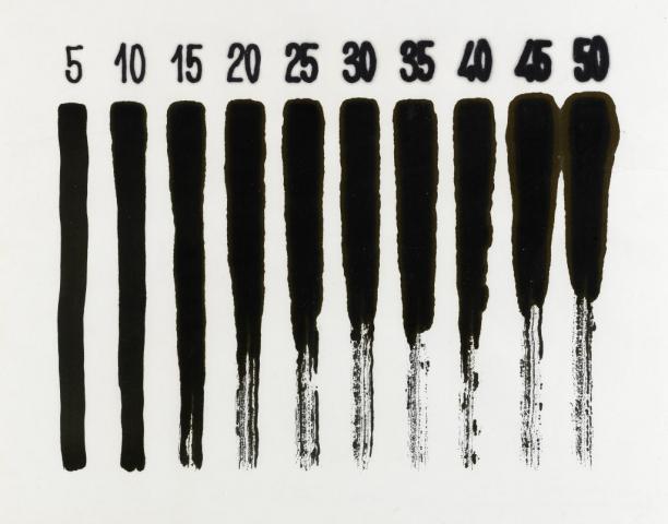 Cronotopografie, 1980, pennarello e inchiostro su carta assorbente, cm 46x60
