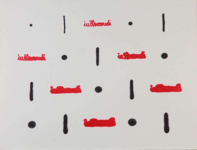 Cronotopografie, 1980-1982, grafite e pennarello su carta assorbente, cm 49x60