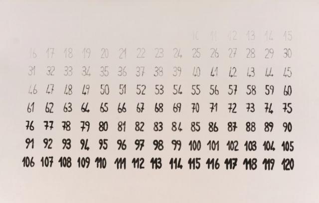 Cronotopografie, 1980, grafite e pennarello su tela indeformabile, cm 57x90
